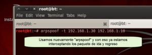 arpspoof cliente servidor