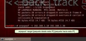 arpspoof servidor cliente